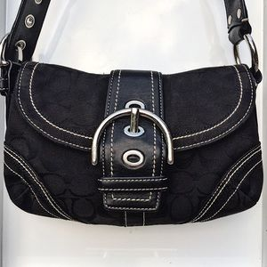 Authentic Coach Small Hobo w/Braided Leather strap